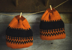 Henny Penny Orange Brim & Black Wool Hat