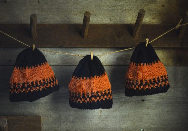 Henny Penny Black Brim & Orange Wool Hat